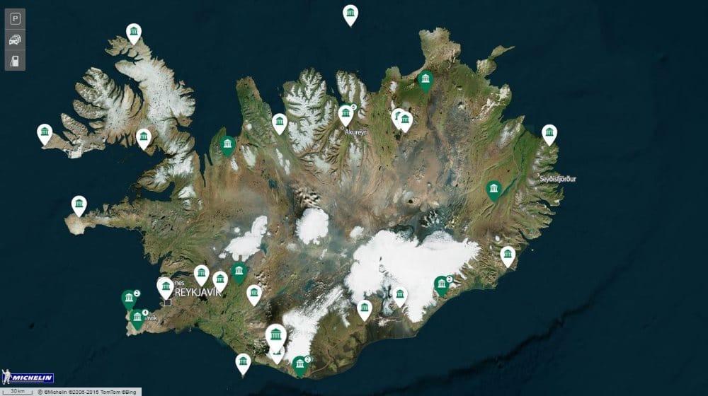 Carte Touristique Islande Viamichelin