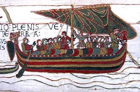 Dessin d'un navire viking