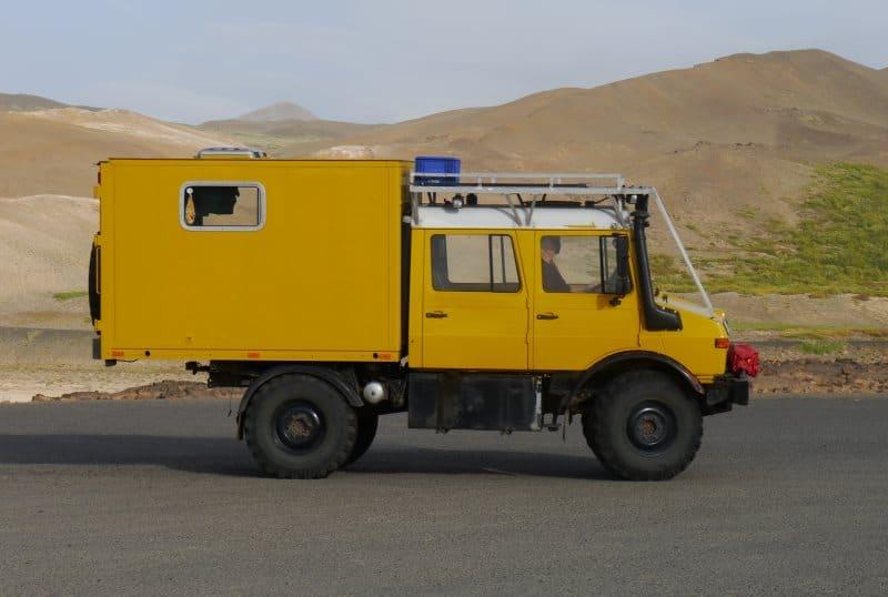 Unimog camping car Islande