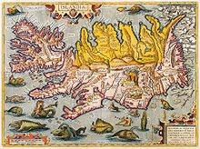 Vielle carte de l'Islande