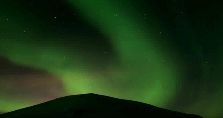 Vidéo d'aurore boréale en Islande