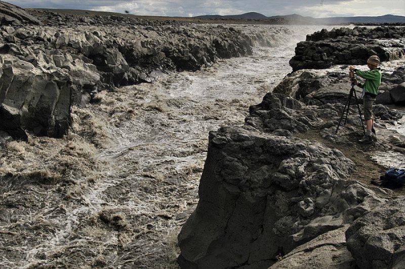 Rivière en Islande en crue