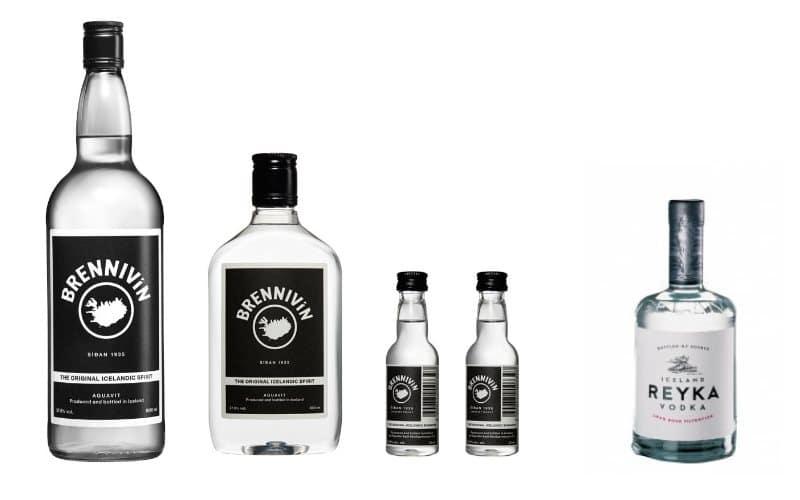 Vodka Reyka et alcool Brennivin d'Islande