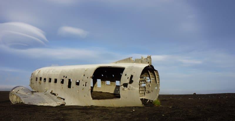Epave Avion sur la plage