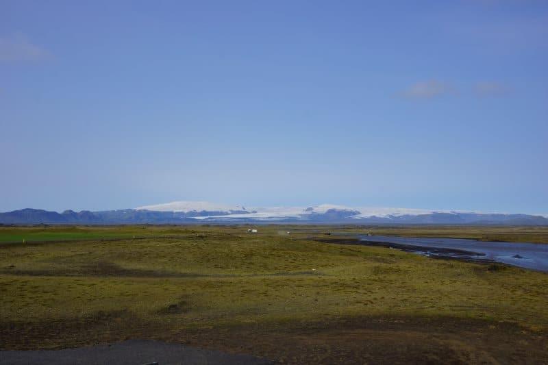 Mýrdalssandur et la calotte glacière au fond