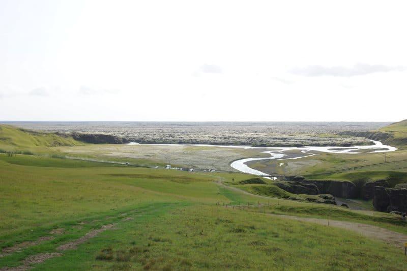 Paysage près de Fjaðrárgljúfur