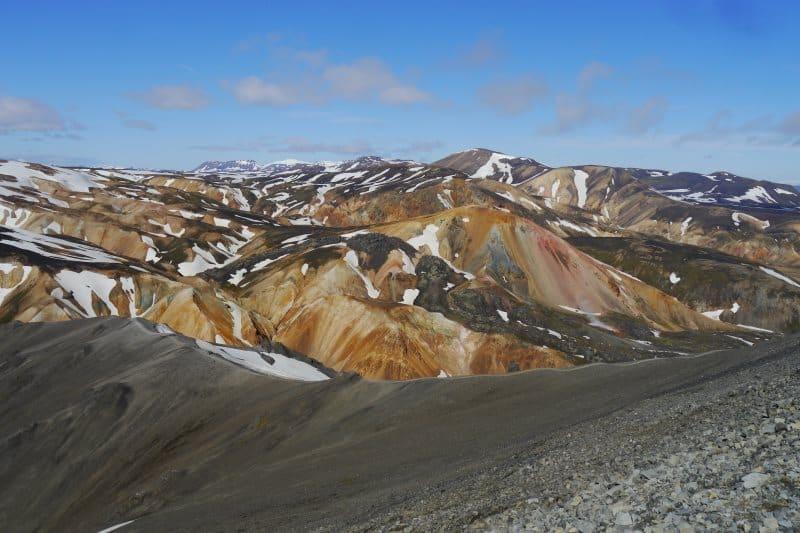 Sud du Landmannalaugar depuis le Blahnukur