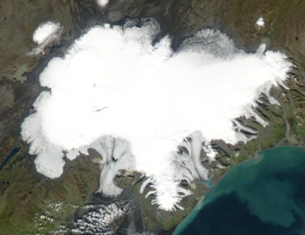 Vatnajökull vue du satellite