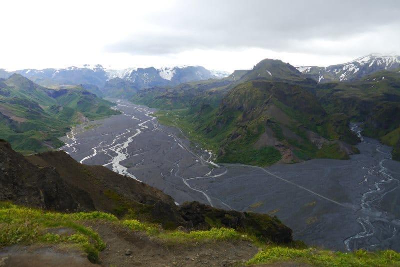 Valahnúkur et vue sur Thorsmork