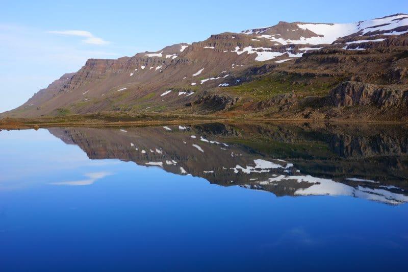 Lac au-dessus de Mjóifjördur