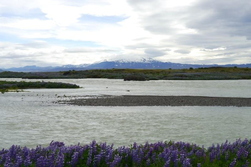 Vue sur le mont Hekla