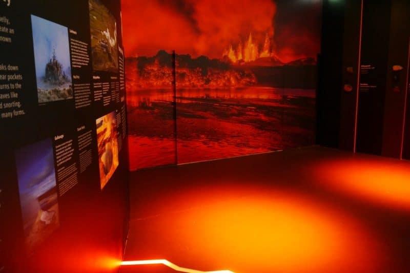 Perlan exposition sur les volcans