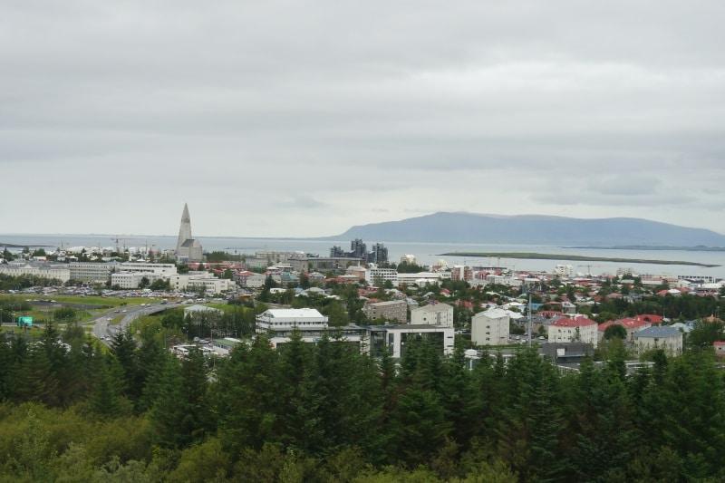 Perlan vue de Reykjavik