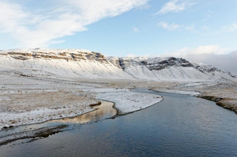 Paysage islandais en novembre