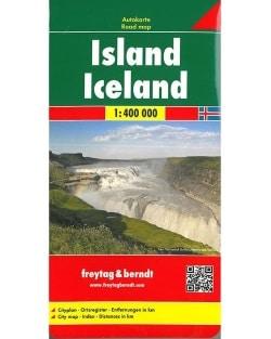 Carte Islande Freytag et Berndt