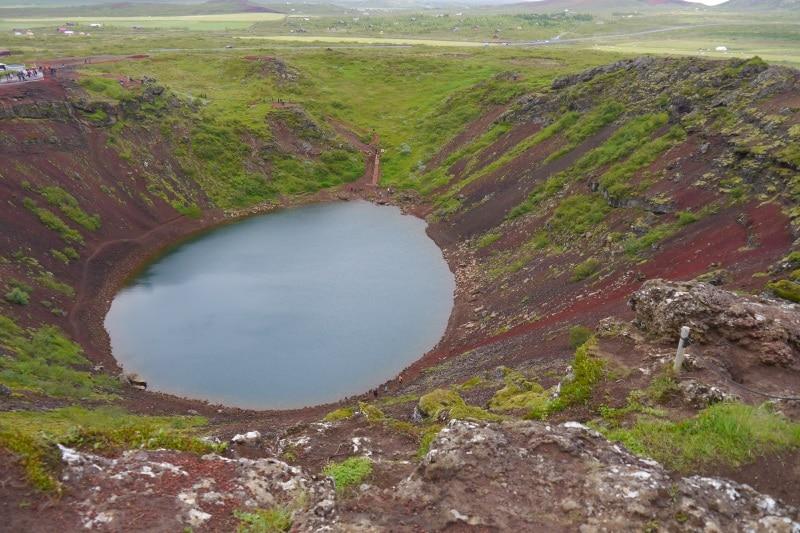 Lac cratère de Kerid