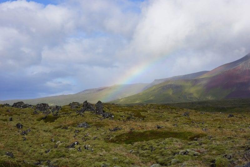 Champ de lave au sud du Snaefellsjokull
