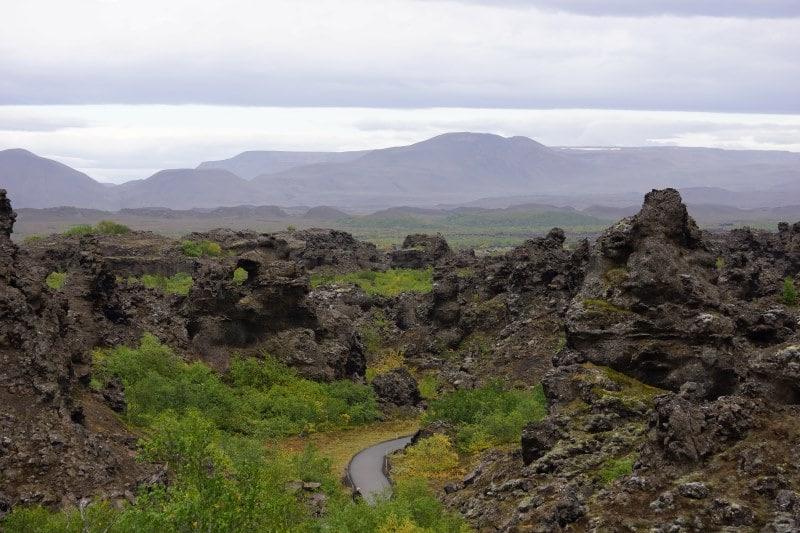 Dimmuborgir cheminées volcaniques