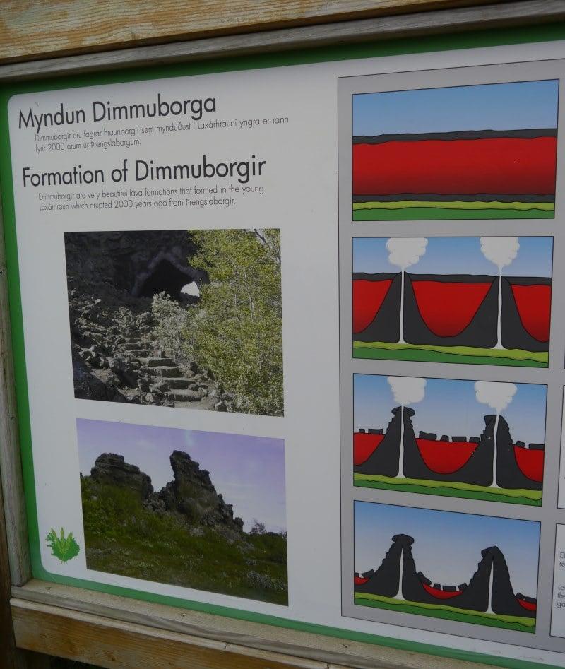 Dimmuborgir formation volcanique