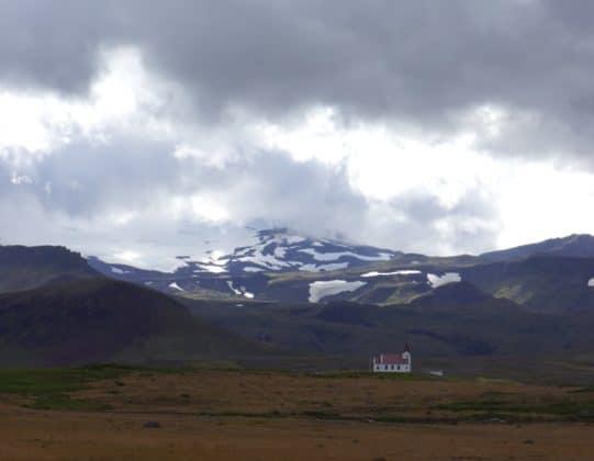 Le Snaefellsjokull vue du nord