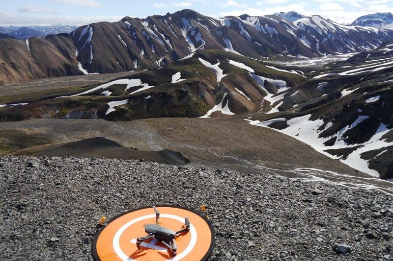 Drone au Landmannalaugar