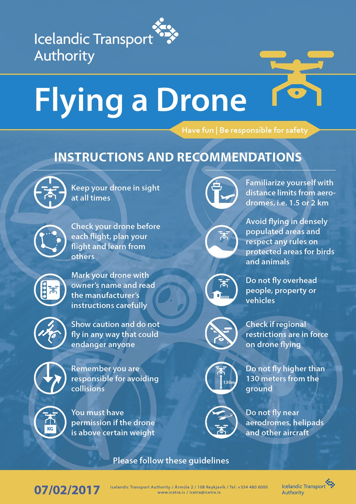 Drone en Islande réglementation