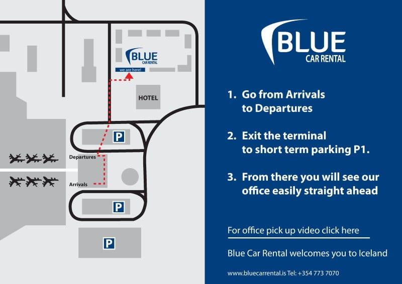 Blue car rental récupérer sa voiture