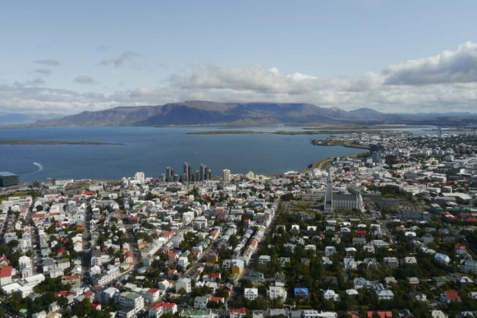 Helicoptère de Reykjavik