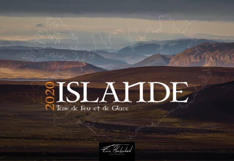 Calendrier sur l'Islande par Eric Hochscheid