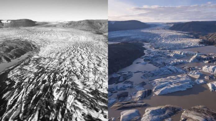 Fonte des glaciers en Islande
