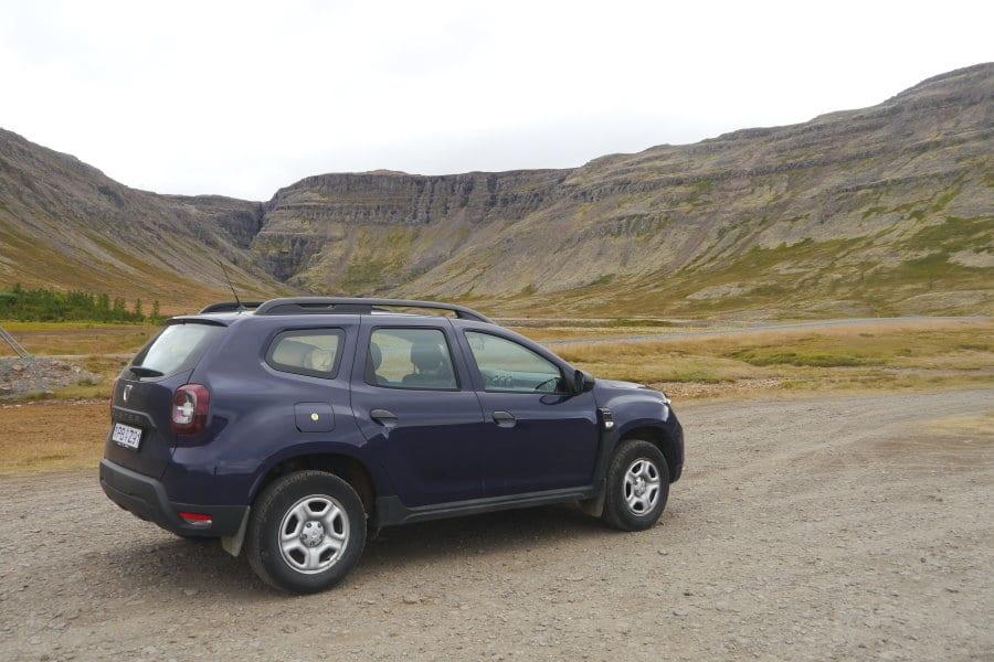 Dacia Duster dans les Fjords de l'Ouest