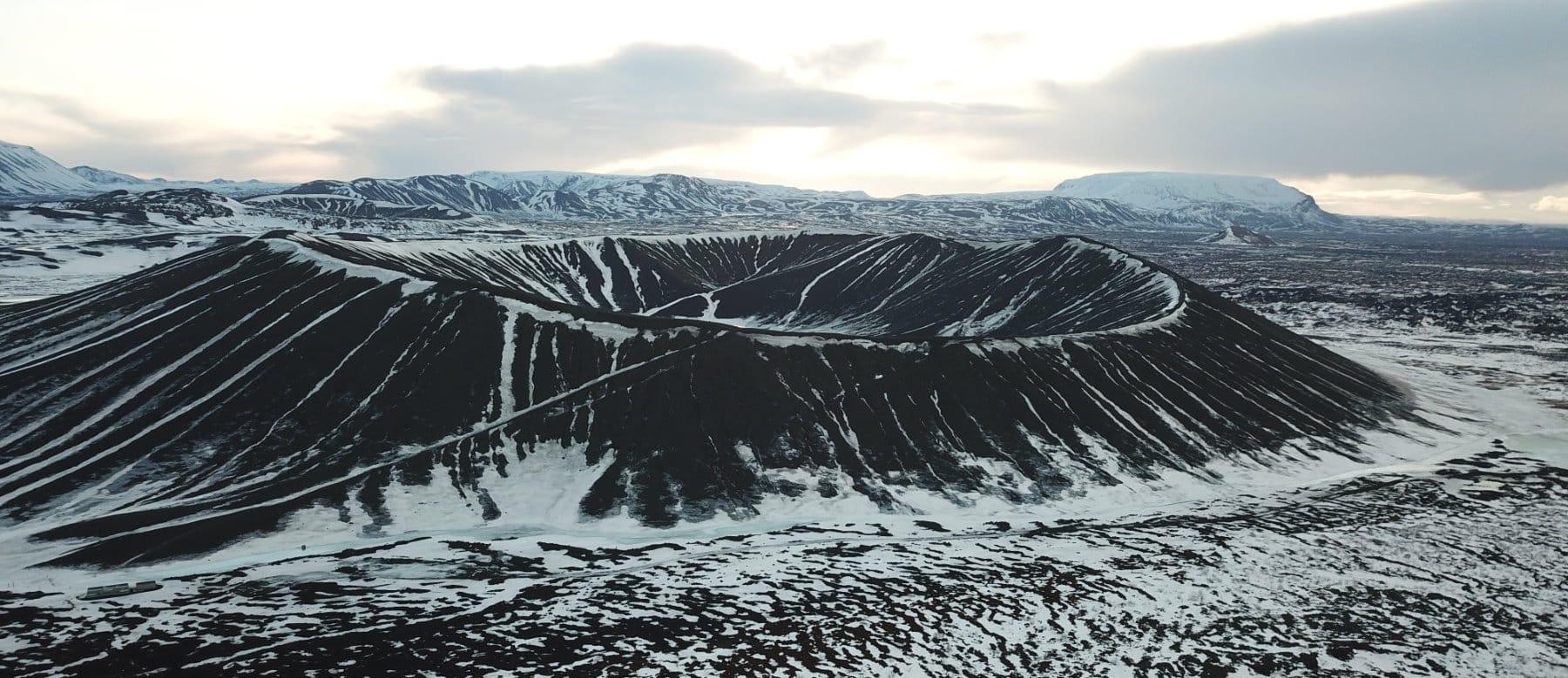 Hverfjall dans le nord de l'Islande
