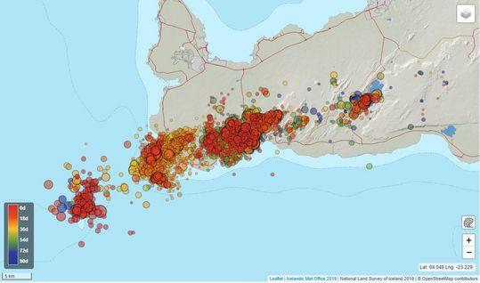 Activité volcanique dans la péninsule de Reykjanes