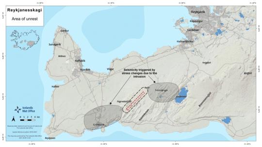 Carte de la situation volcanique