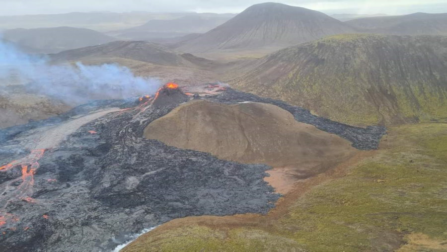 Eruption du volcan en Islande