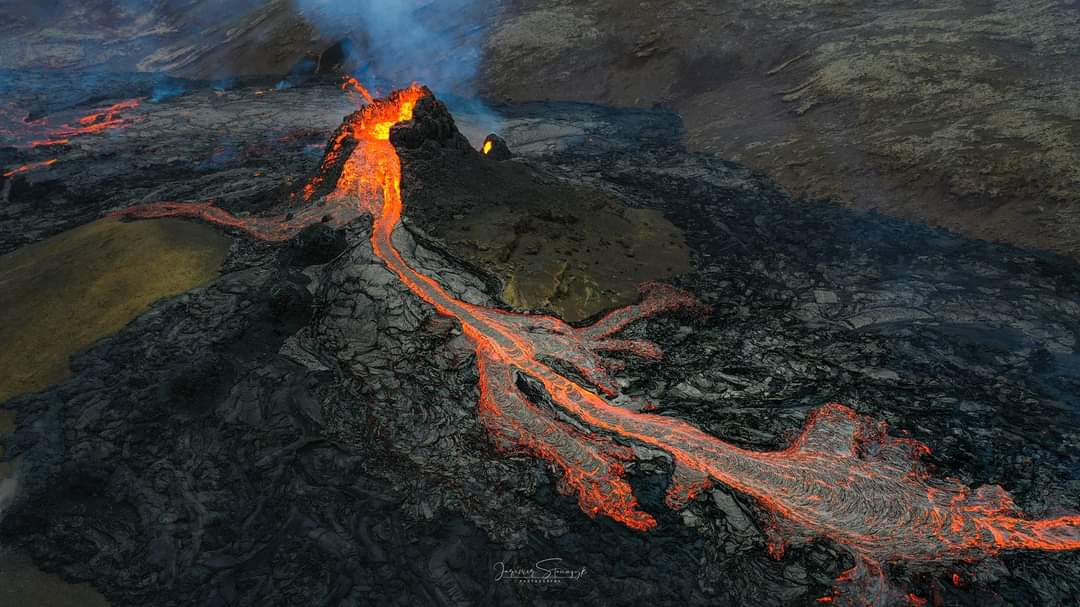 Volcan dans la péninsule de Reykjanes
