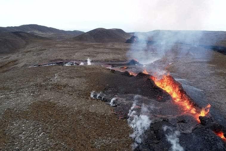 5e faille de l'éruption volcanique